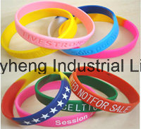 Silicon Bracelets Silicon Wristband Promotion Wrist Band Rubber Band Bracelets pictures & photos