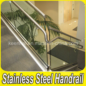 304 Stainless Steel Handrail Clear Glass Stair Balustrade pictures & photos