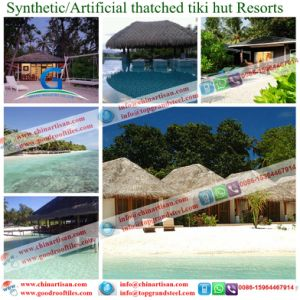 Caribbean Natural Look Fireproof Synthetic Thatch Roof pictures & photos