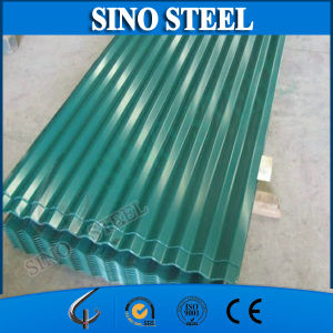 Green Color PPGI Galvanized Corrugated Roofing Sheet for Decoration pictures & photos