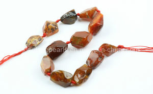 Carnelian Faceted Nuggets Gemstone Beads (SL72796)