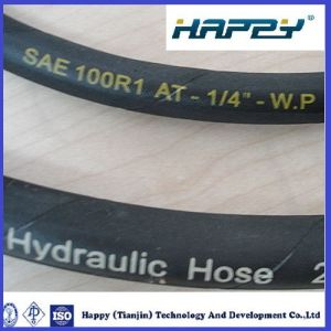 "Dn 3/8 "" R1 Steel Wire Braided Hydraulic Rubber Hose pictures & photos"