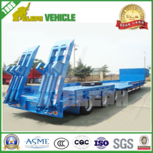 3 BPW Axles Hydraulic Rotary Axis Low Bed Trailer pictures & photos