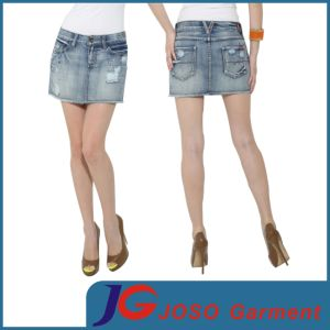 Women Fashion Denim Distressed Mini Skirts (JC2106) pictures & photos