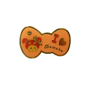 Hot Sale Cute Kitty Bownot Shape Customized Metal Plate pictures & photos