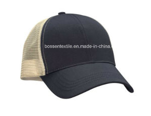 Custom Made Cotton Plain Black Trucker Style Baseball Cap Sports Hat pictures & photos