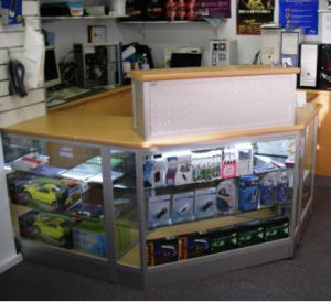 Aluminum Exhibition Retail Display Stand Showcase Fixtures (GC-DC) pictures & photos