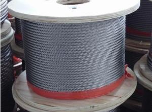 Good Quality Galvanized Fishing Steel Wire Ropes with Fibre Core pictures & photos