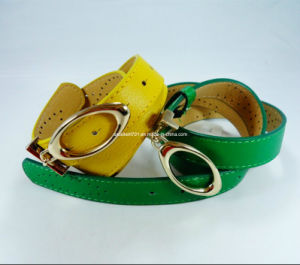 Fashion PU Women Belt with Nickle-Free Buckle (EUBL0322-28) pictures & photos