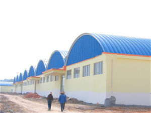Curve Roof Prefab Steel Structure Warehouse Buildings for Storage (KXD-56) pictures & photos