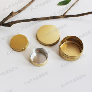 80g Golden Aluminum Jar for Cosmetics Cream Packing pictures & photos