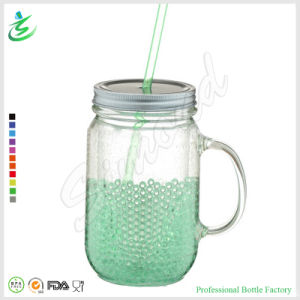20oz BPA Free Double Wall Ice Gel Mason Jar with Tin Lid (FB-A13) pictures & photos