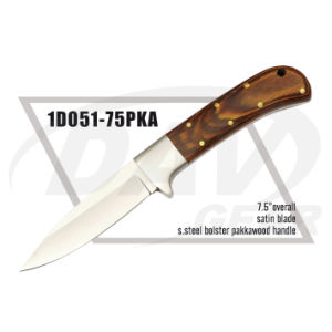 "7.5"" Overall Pakkawood Handle Dagger with Satin Blade: 1do51-75pka pictures & photos"