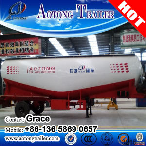 Tri-Axles 60 Ton Bulk Cement Tanker Semi-Trailer in Dubai, 50cbm Bulk Cement Truck Trailer (volume optional) pictures & photos