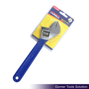Adjustable Wrench with Dipped Handle (T01320)
