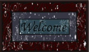 Flocked Rubber Door Mat /Rugs 8805-05 pictures & photos