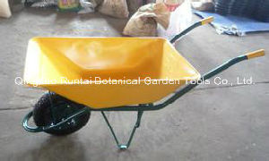 Popular Yellow Color Heavy Duty Wheelbarrow (WB6404T) pictures & photos
