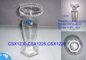 Clear Glass Candle Holders (ZT-34) pictures & photos