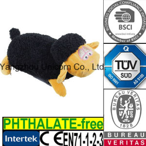 CE Soft Stuffed Animal Black Goat Plush Toy Sheep