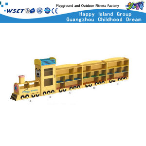 Bus Model Toys Cabinet Kindergarten Wooden Furniture for Wooden Kids Role Play Shelf (HC-3101) pictures & photos