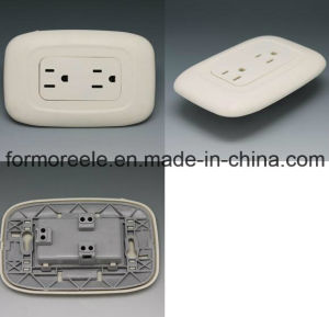 125V15A ABS Ivory 2 Gang 3 Pin Socket for South America pictures & photos