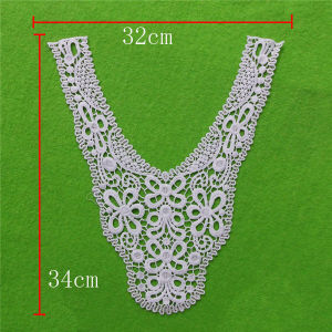 Eyelet Appliques Water Soluble Cotton Lace Collar (cn60) pictures & photos