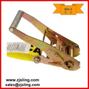 """En12195-2 2"""" Double J Hook Ratchet Strap (1""""- 4"""" customized) pictures & photos"""