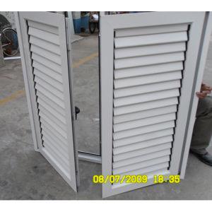 High Quality White Colour Powder Coated Aluminum Profile Casement Window & Casement Shutter K03014 pictures & photos