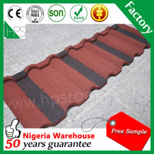 China Colorful Roofing Materials Chinese Glazed Stone Coated Metal Roof Tile pictures & photos