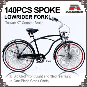 140PCS Spoke Wheelsets 26 Inch Beach Cruiser Bike (ARS-2681S-1) pictures & photos