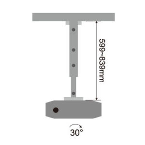 360 Rotating Retractable Projector Mount pictures & photos