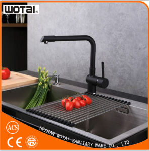 Black Finished Single Lever Black Kitchen Sink Faucet Tap pictures & photos