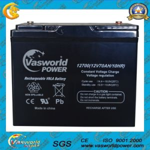 12V70ah Deep Cycle Cell Lead Acid Battery pictures & photos