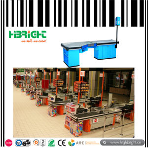 Popular Supermarket Cashier Checkout Counter with Conveyor Belt pictures & photos