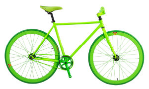 2014 Newest Design Green Fixed Gear Bike Track Bike (dg-fg-010)