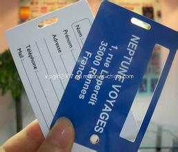 2015 Promotional 3D Fashion PVC Plastic High Quality Luggage Tag