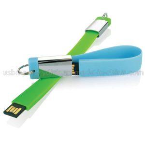 Silicone Ribbon Keyring Custom USB Flash Drive (WB-004)