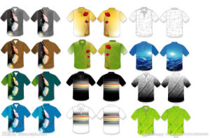 Fashion Nice Cotton/Polyester Printed Golf Polo Shirt (P036) pictures & photos