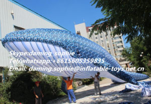 New Customized Inflatable Camouflage Color Whale for Decoration