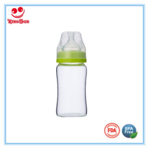 Transparent Wide Neck High Borosilicate Glass Baby Bottles pictures & photos