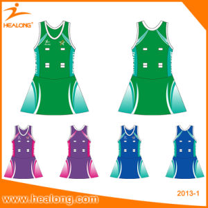 Healong Professional Custom Any Color Logo Netball Skirt Dress Jerseys pictures & photos