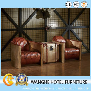 Hotel Public Lobby Metal Leather Living Room Chair pictures & photos