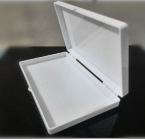 White Solid Color Jewel Packaging Box with Hinged Style pictures & photos