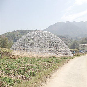 Large Outdoor Tent Windproof Waterproof Geodesic Dome Greenhouse with PVC Cover
