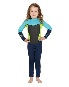 Kids 3/2mm Long Sleeve Flat Lock Steamer Wetsuit pictures & photos