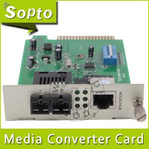 10/100/1000Mbps Snmp Managed 40km Fiber Media Converter Card (SPM-CMT23-N40SA)