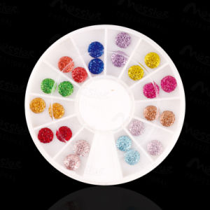 3D Round Design Glitter Shiny Colour Crystal Rhinestone Nail Art Decoration