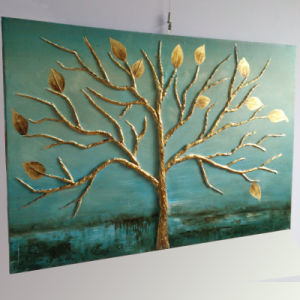 Abstract Decorative Oil Tree Painting for Bedroom on Wall (LH-213000) pictures & photos