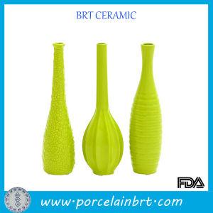 Apple Green Slim Ceramic Flower Vase Set pictures & photos