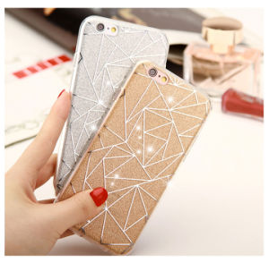 Phone Case for iPhone Shimmering Powder TPU Case pictures & photos